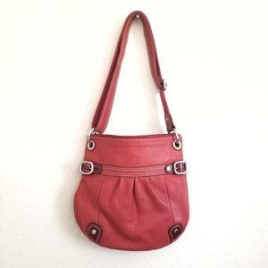 Fossil Red Shoulder Crossbody Leather Bag